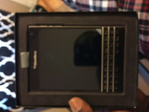Black brand new blackberry passport