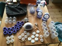 Lansinoh electric breastpump + extras