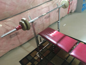 Bench Press - Bar and Weights Included