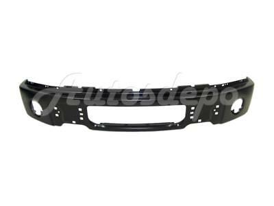 FOR FORD F150 2009-2014 FRONT BUMPER FACE BAR BLACK WITH FOG LAMP HOLE