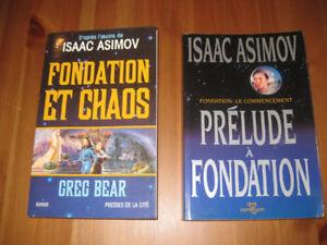 Asimov - Fondation et chaos - prélude a fondation - 2 livres-