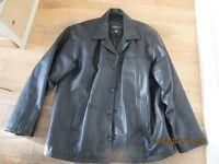 Lakeland Mens Black Leather Jacket excellent condition