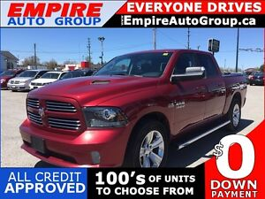 2014 RAM 1500 SPORT * 4WD * LEATHER * SUNROOF * REAR CAM * NAV *