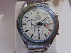 Omega Speedmaster Broad Arrow GMT Automatic Chronograph Co-Axial
