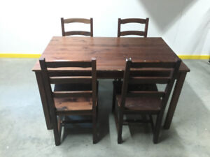 Kids wooden table + chairs