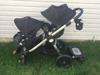 City Select double Stroller w/child tray,mommy hock & cup holder