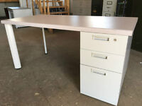 Heavy Duty Desks with Laminate tops and steel pedestals