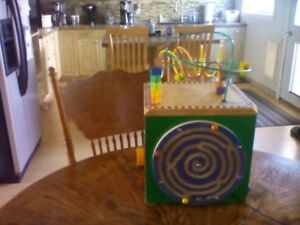 Wooden Activity Game Cube