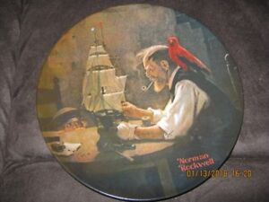 The Ship Builder - Norman Rockwell Plate #048410 1980