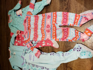 5 pairs of fuzzy jammies
