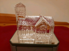 Waterford Crystal Lismore Village Church Crystal Glass Sculpture. Mout