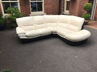 Lovely cream leather sofa for sale £200 free local deliver