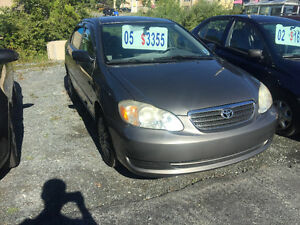 2005 TOYOTA COROLLA AUTOMATIC MONTH END GO TIME   $2625