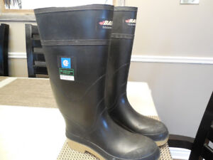 Baffin Steel Toe Rubber Boots Mens Size 9