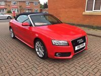Audi A5 3.0 tdi s line cabriolet 55k red convertible not bmw s5