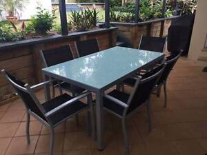 Outdoor dining table and Chairs - 6 seater North Narrabeen Pittwater Area Preview