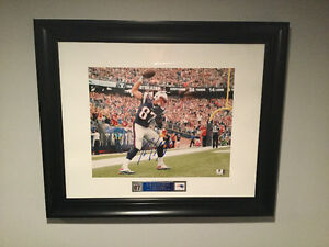 Rob Gronkowski autographed picture. (Framed)
