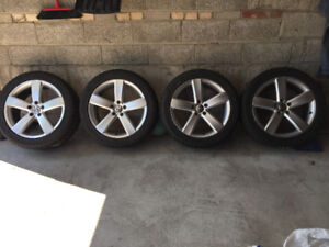 VW Rims with winter tires