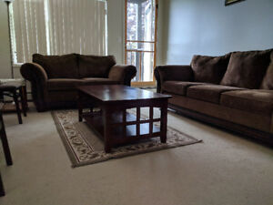 Sofa,Love seat and coffee table
