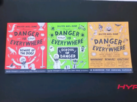 danger is everywhere books (brand new)