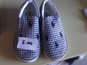 Boys Polo brand slip on shoes size 10