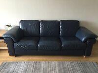Natuzzi leather sofa and 2 chairs
