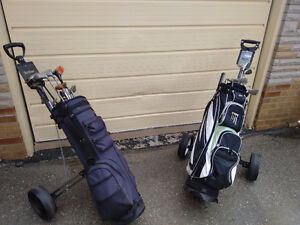 TWO SETS OF CLUBS W/ BAG & CART  !!!