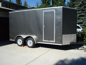 VNose 7x14 cargo trailer, $3,000. worth of box liner spray, new