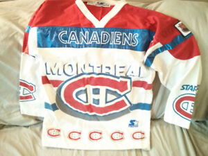 Large Retro NHL Montreal Canadiens Champions Starter Jersey