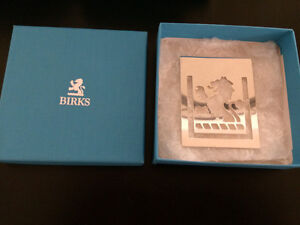 Authentic Silver Plated BIRKS LION Bookmark with Birks Box