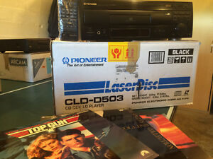 Laser disc player includes discs!