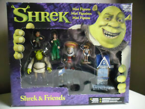 "Shrek Mini Figures ""Shrek & Friends"" McFarlane Toys New in Box"