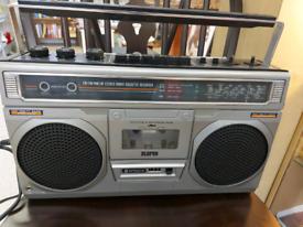 Retro Hitachi Portable Stereo Radio Cassette Recorder