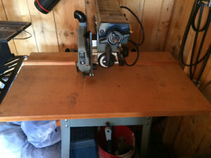 Delta Radial Arm Saw on wheeled table