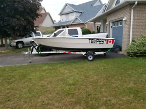 Tempest 16ft boat and trailer
