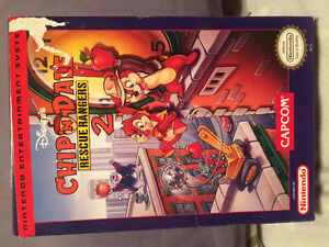 Chip n dale rescue rangers 2 BOX ONLY nes nintendo
