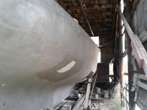Give away.  38 ft ferro-cement sailboat hull.