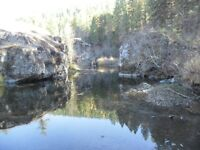 Placer gold claim on Boundery Creek.