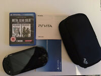 PS Vita + Metal Gear Solid + Case + 8GB Card