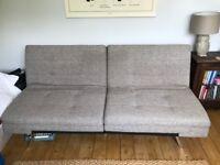 "Grey fabric sofa. Converts to sofa bed. Debenhams ""Acapulco"""