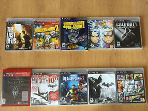 Jeux Ps3:COD Black Ops II-Las of Us-Naruto-GTA V etc..