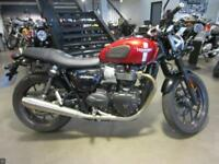 2016 TRIUMPH STREET TWIN 900CC RED 5430 MILES