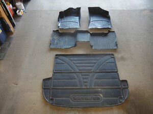 WeatherTech fitted floor mats and trunk mat for Santa Fe