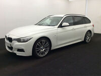 £288.14 PER MONTH BMW 320 2.0TD (184bhp) (s/s) TOURING M SPORT AUTOMATIC DIESEL