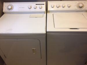 Whirlpool Gold Ultimate Care II washer and super-capacity dryer