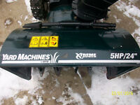 Yard Machines 5hp 24 inch cut Snowblower