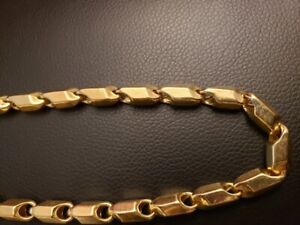 Hollow 10k Real Gold chain necklace
