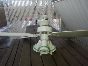 42-inch white ceiling fan with tri-light