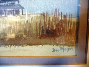 Two Beautiful Watercolor Farming Landscapes by Des Major 1985 Stratford Kitchener Area image 4
