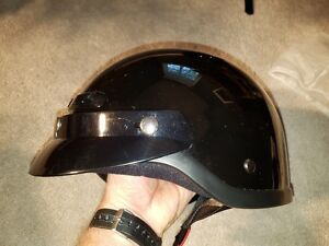 Helmet, VG-500 Shorty, DOT Approved, Black, Size Small
